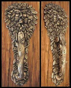 The Greenman Door Knocker. We have this at home!