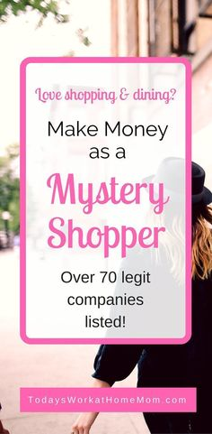 Get Paid To Shop: How To Become A Mystery Shopper Need a flexible way to earn extra money? Learn how you can make money as a mystery shopper using your love of shopping and good observation skills. Ways To Earn Money, Earn Money From Home, Way To Make Money, Earn Extra Cash, Extra Money, Big Money, Get Paid To Shop, Mystery Shopper, Money Making Crafts