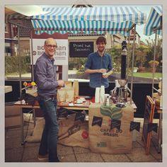 Koffiebranderij Borgman Borgman was er ook op de Markt met een verhaal - coffee roasters Borgman Borgman joined us too