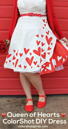 This Valentine's, be RED hot in a dress you can DIY yourself using Tulip ColorShot Instant Fabric Color! #liveincolor