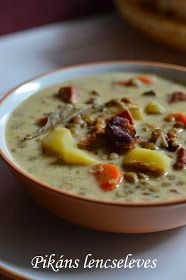 Hankka: Pikáns lencseleves Cheeseburger Chowder, Recipes, Foods, Veil, January, Essen, Food Food, Food Items, Recipies