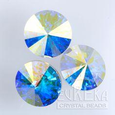Eureka Crystal Beads - 1122 10mm (47ss) Rivoli CRYSTAL AB Swarovski Crystal Stones (4 pcs), $2.85 (http://www.eurekacrystalbeads.com/1122-10mm-47ss-rivoli-crystal-ab/)