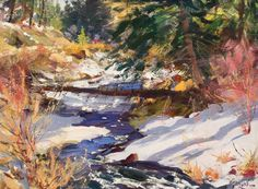 International Masters - Late March On The Rio Pueblo - Oil by Walt Gonske Extremely Large View