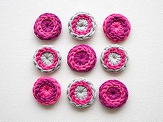 Howto crochet buttons