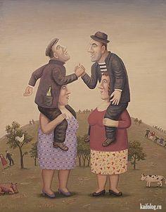 Владимир Любаров (45 картин) Arte Judaica, Old Folks, Jewish Art, Naive Art, Russian Art, People Art, Gothic Art, Illustrators, Whimsical