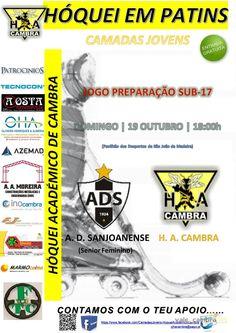 Hóquei em Patins: AD Sanjoanense (SEN FEM) vs HA Cambra > 19 Out 2014, 18h @ São João da Madeira  _Jogo Preparação Sub-17_  #HoqueiPatins