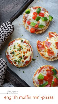 Freezer English Muffin Mini Pizzas – Their minuscule size and top-quality ingredients make these prep-ahead convenience foods the perfect combination of fun and healthy!