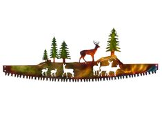 Excited to share this item from my shop: Whitetail Buck Deer Family in Crosscut Saw Blade Indoor or Outdoor Wildlife Metal Wall Art Outdoor Metal Wall Art, Metal Tree Wall Art, Metal Art, Mountain Cabin Decor, Mountain Cabins, Mountain Homes, Log Cabins, Buck Deer, Deer Family