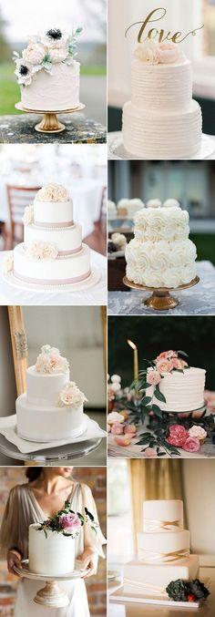 trending simple but elegant wedding cakes #weddingcakes