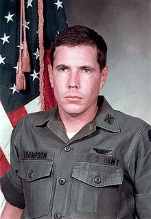 Hugh Thomson... the soldier who during the Vietnam War had landed a helicopter in the line of fire to confront and stop American troops who had by that point killed close to 500 unarmed civilians in the My Lai Massacre, was labeled a traitor by Congress and ordered not to speak about the event.