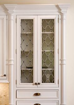 Diy Glass Cabinet Doors Inspirational Kitchen Cabinets with Furniture Style Flair. Best Kitchen Faucets, Glass Kitchen Cabinets, Diy Kitchen Island, Kitchen Ideas, Bathroom Cabinetry, Kitchen Office, Kitchen Decor, Glass Pantry Door, Glass Cabinet Doors