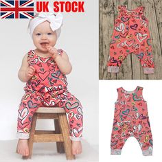 2adb641cc1f Newborn Baby Girls Infant Romper Jumpsuit Bodysuit Playsuit Clothes Outfits  UK