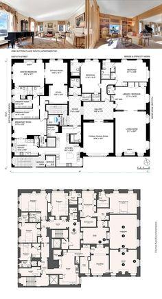 Apartment Floor Plans, House Floor Plans, Home Design Plans, Plan Design, Garage Design, House Design, Architectural Floor Plans, Lenox Hill, Sutton Place