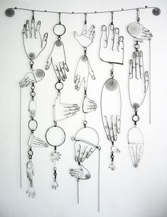 wire hand sculpture