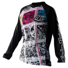 Check out the Troy Lee Designs Black 2011 Rev Womens MX Jersey, available now at FreestyleXtreme Bmx Gear, Motocross Gear, Atv Riding, Riding Gear, Mx Jersey, Mt Bike, Troy Lee, Mountain Biking, Motorcycle Jacket