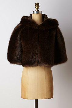 Faux-Fur Hooded Swing Cape #anthropologie