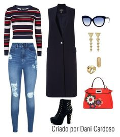 Maxi Colete - look casual by danicardoso-moda on Polyvore featuring polyvore, fashion, style, Topshop, Adrianna Papell, Lipsy, Fendi, House of Harlow 1960, Annelise Michelson, Venyx, Italia Independent and clothing