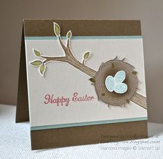 I'm loving Take Care from Stampin' Up for Easter cards
