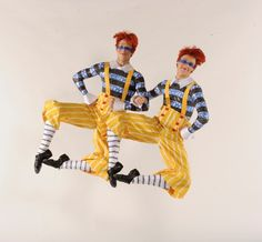 "Corey Landolt and Dylan Ward appear as Tweedle Dee and Tweedle Dum in the Washington Ballet's ""Alice (in Wonderland)!"" photo by Steve Vaccariello, costume design Liz Vandali, hair & makeup Dean Krapf & Jenn Quinn"