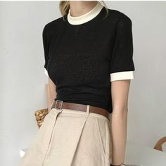 Buy monroll Color Block Short-Sleeve T-Shirt at YesStyle.com! Quality products at remarkable prices. FREE Worldwide Shipping available!