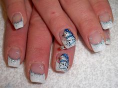 not so much the snowmen, but I love the other nails!