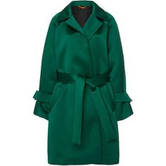 Marta Bell Sleeve Coat   Moda Operandi (€720) ❤ liked on Polyvore featuring outerwear, coats, blue coat and tie belt