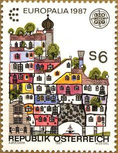 europa stamps: Austria 1987 - focus