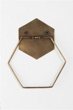aldava door knocker hexagono (se puede agregar un octahedro como piedra de golpe)