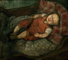 Paula Modersohn-Becker - Figurative Painting - Schlafendes Kind