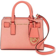 MICHAEL Michael Kors TZ Small Leather Crossbody ($90) ❤ liked on Polyvore featuring bags, handbags, shoulder bags, leather shoulder handbags, red purse, cross-body handbag, leather handbags and crossbody shoulder bags