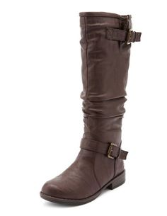 Slouchy Knee-High Flat Boot: Charlotte Russe