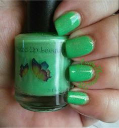 This green creme beauty is 'Pumpkin vines' from the 'Falling into fall' (2016) collection by www.allmixeduplacquers.com