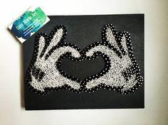 Mickey Mouse Heart Hands String Art Disney Thread Art Wood