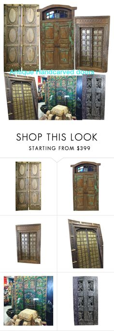 Antique Hand Carved Doors by era-chandok on Polyvore featuring interior, interiors, interior design, home, home decor, interior decorating, WALL, homedecor, antiquefurniture and olddoor