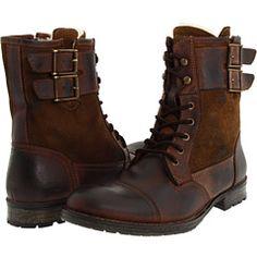 tough brown boots #mens #style #fashion