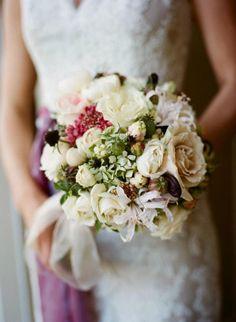 Plum to blush bouquet- Kathy Hoffman flowers/ Meg Smith Photography