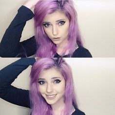 @theledabunny goes Violet!! She used #ArcticMist and #PurpleRain to get this lovely shade of gorgeous!