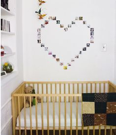 Here's great tutorial for your new dorm room or apartment! Instagram picture heart display (click through for tutorial!) - A Beautiful Mess