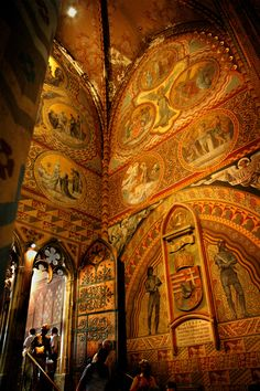 Inside the ancient St. Matthias Church in Budapest, Hungary, Europe Beautiful Buildings, Beautiful Places, Modern Buildings, Les Balkans, Budapest Travel, Budapest Nightlife, Hungary Travel, Hungary Food, Capital Of Hungary