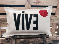 VIVE White Pillow  Cushion Decorative Home Decor by MixeDesigns