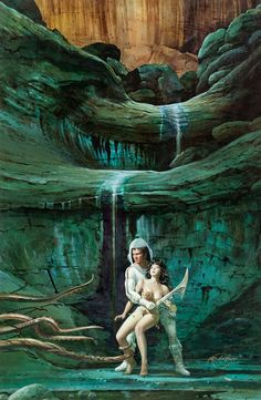 robert adragna - heavy metal v4#6 cover painting, 1980