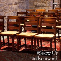 #AdventWord #Show Up || I think showing up is a very important spiritual discipline, but the form has to be complemented by God's ongoing work of formation: what God is giving us is the ability to see and hear and savor and desire now. Br. Curtis Almquist || @SSJEWord: We hope that you will post prayerful images with the #adventword hashtag on Twitter and Instagram to create a Global Advent Calendar. Check out www.aco.org/adventword.cfm & see what others are posting.