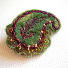 Paisley Brooch Green 5 - FREE UK POSTAGE £11.25
