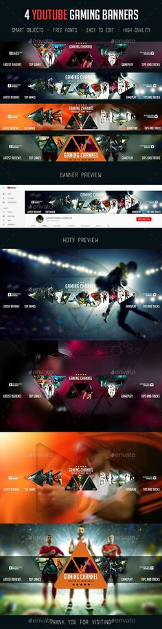4 YouTube Gaming Banners - GraphicRiver #webdesign #SocialMedia #marketing #design #BestDesignResources Group Games For Kids, Outdoor Games For Kids, Games For Teens, Youtube Banner Design, Youtube Banners, Abc Games, News Games, Funny Wedding Games, Couples Game Night