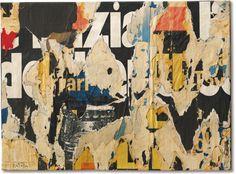 Mimmo Rotella: Scrittura AZ (1958)