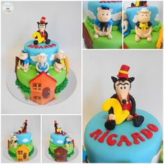 Three Little Pigs and the Bad Wolf Cake