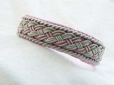 No. 1020 Sami Bracelet of pewter thread colored by jessofsweden