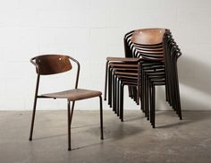 these chairs are AWESOME! - Institutional Stacking Chairs from Amsterdammodern.com