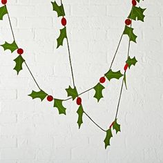 Boughs of Holly Garland  | The Land of Nod