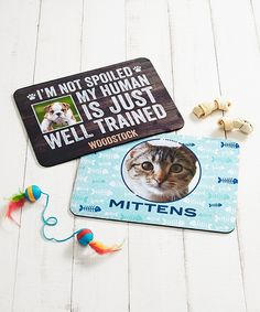 Personalize a placemat for your pet so they'll feel right at home. | Shutterfly